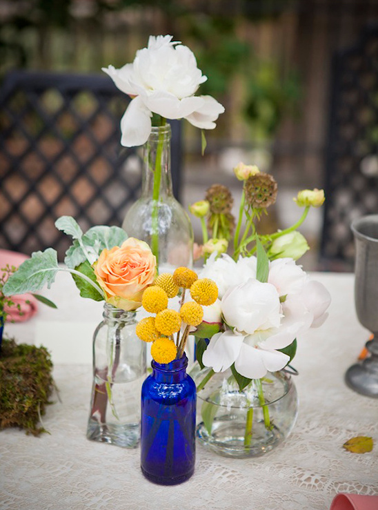 white and yellow floral arrangements