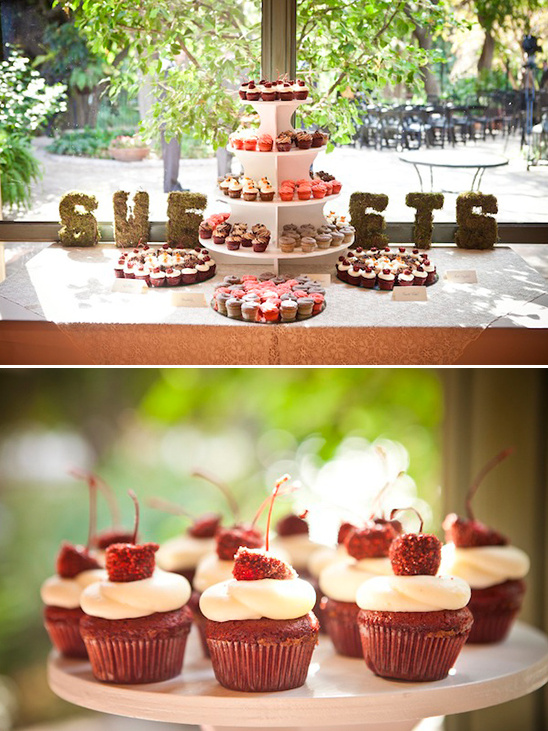 cupcake table by Kate's Frosting