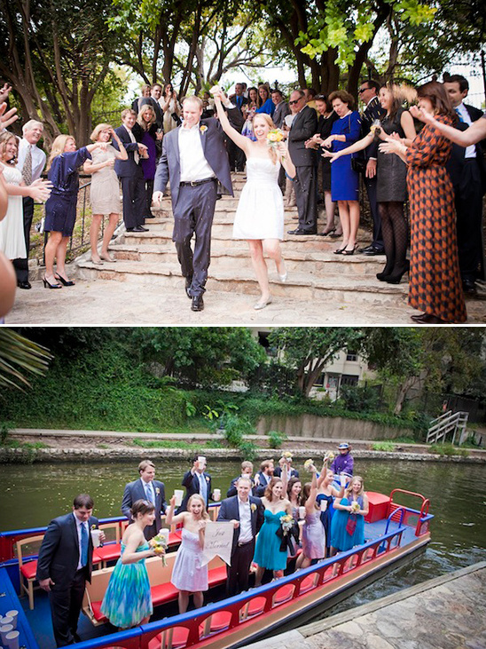 just married boating trip