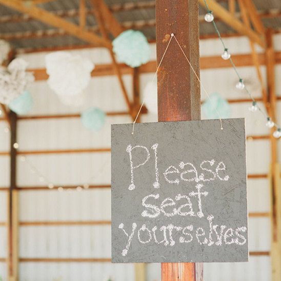 please seat yourselves sign