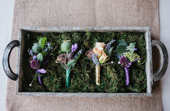 boutonnieres by Finch & Thistle