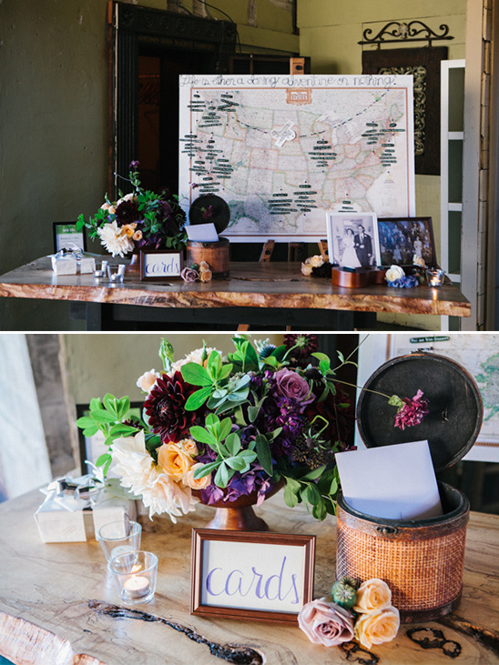 wedding card table and map seating chart