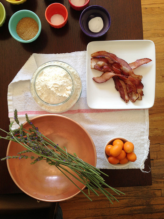 Buttermilk Bacon Kumquat Scone Recipe