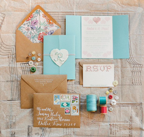 crafty wedding invites by Blue Eye Brown Eye