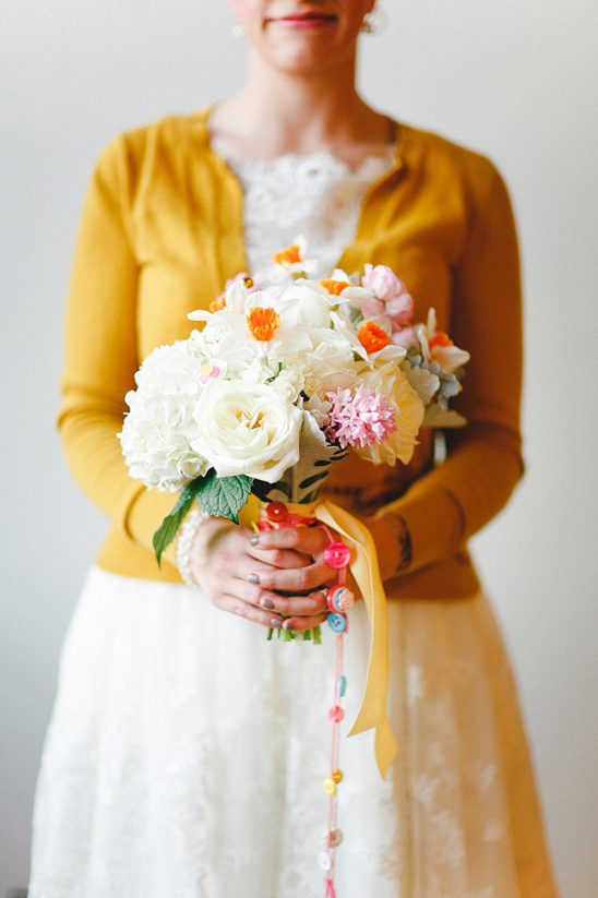 daffodil wedding bouquet by We + You