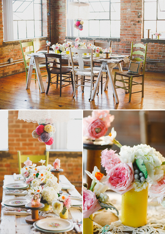 crafty table decor by Jen Rios Design