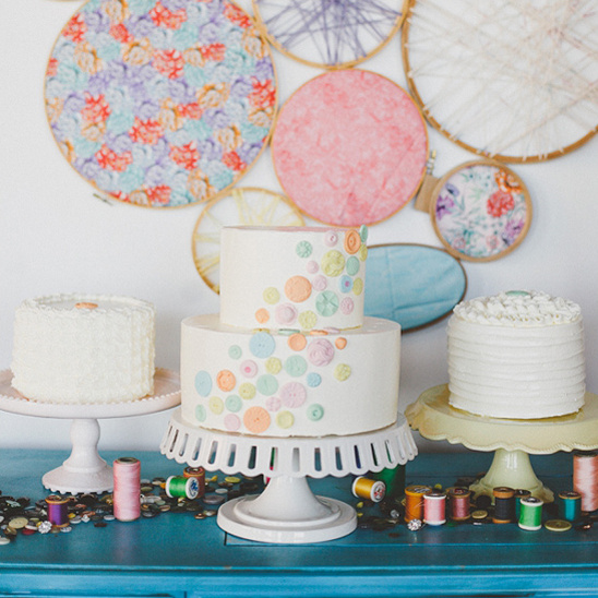 crafty cake table ideas