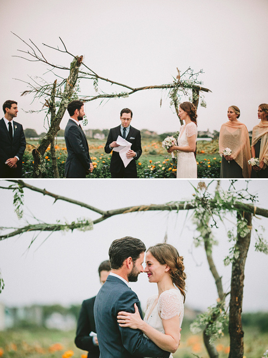 outdoor wedding ceremony at Fairview Farms