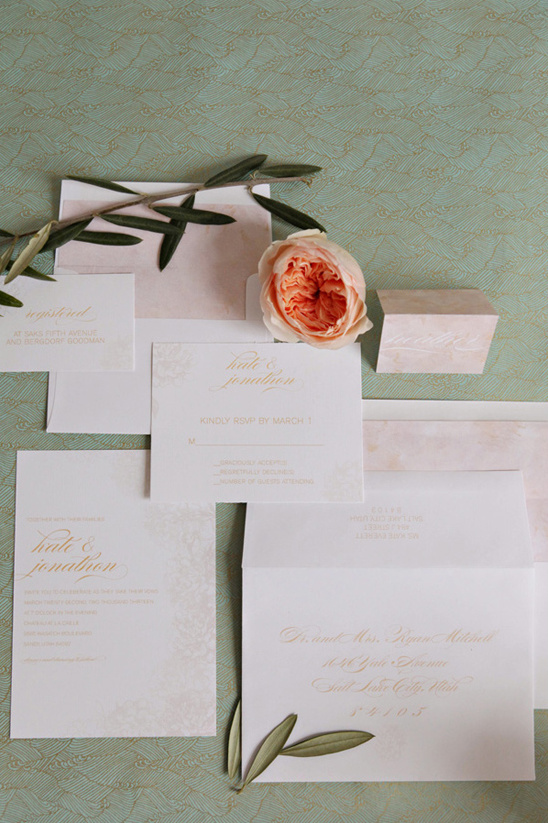romantic wedding stationary from Alexis June Creative