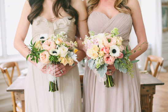pastel bridesmaid bouquets from Utah Events by Design & Urban Chateau Floral