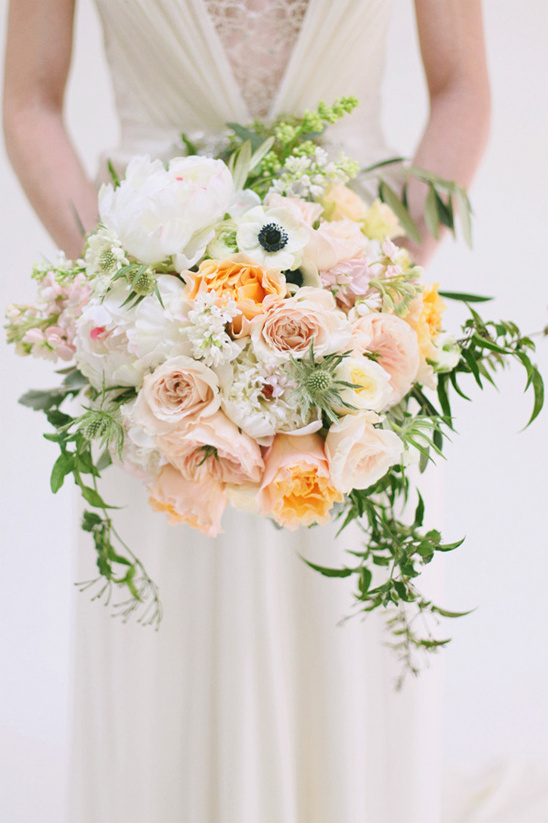 peach and white bridal bouquet by Utah Events by Design & Urban Chateau Floral
