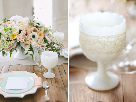 lace wrapped cups