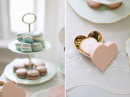 wedding favors in heart box