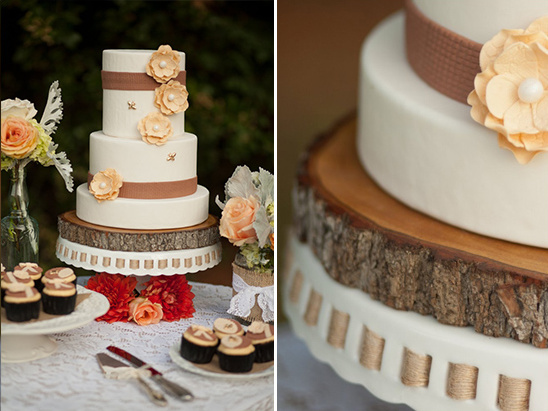 burlap cake by Leah Bee Cakes