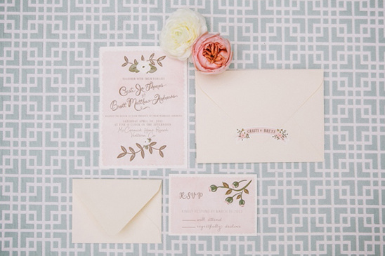 handpainted wedding invites by The First Snow