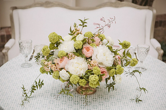 green, pink and white flowers by Stella Bloom Designs