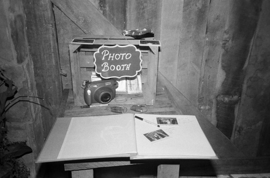 homemade photo booth ideas from Bliss Weddings & Events