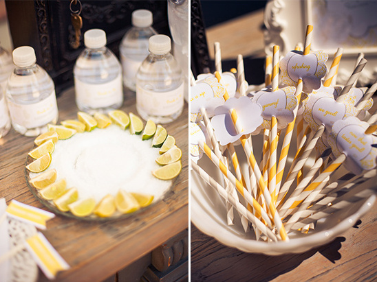 Vintage Yellow and Gray Bridal Shower