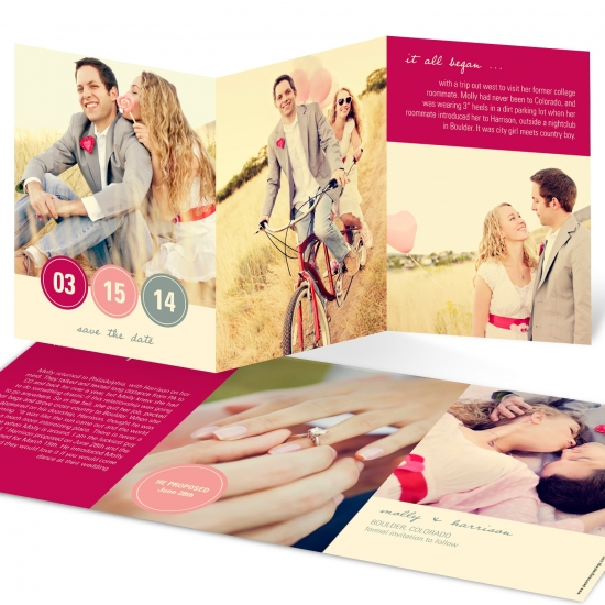 Photo Save the Date Cards -- Love Letter