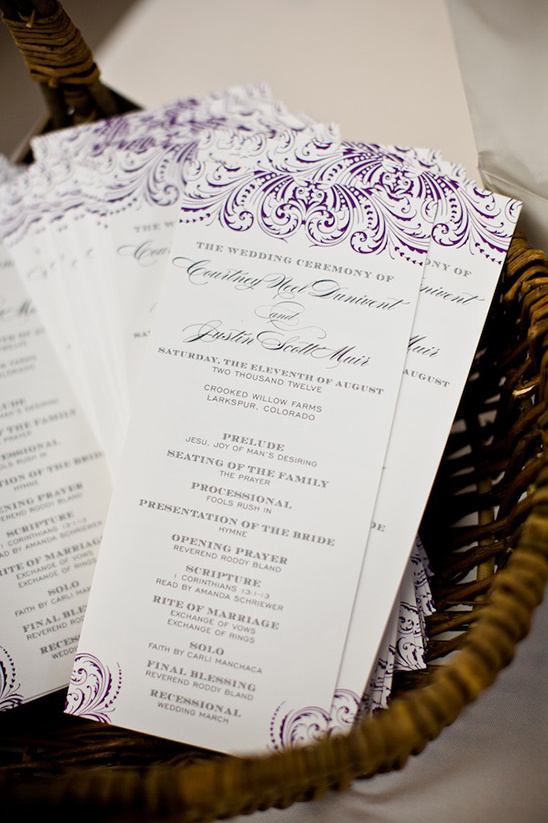 wedding programs by Belletristics