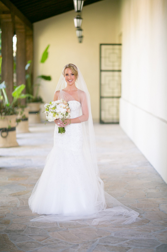 sparkly white wedding gown by Monique Lhuillier