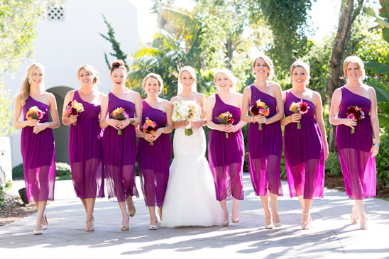 bright purple bridesmaid dresses