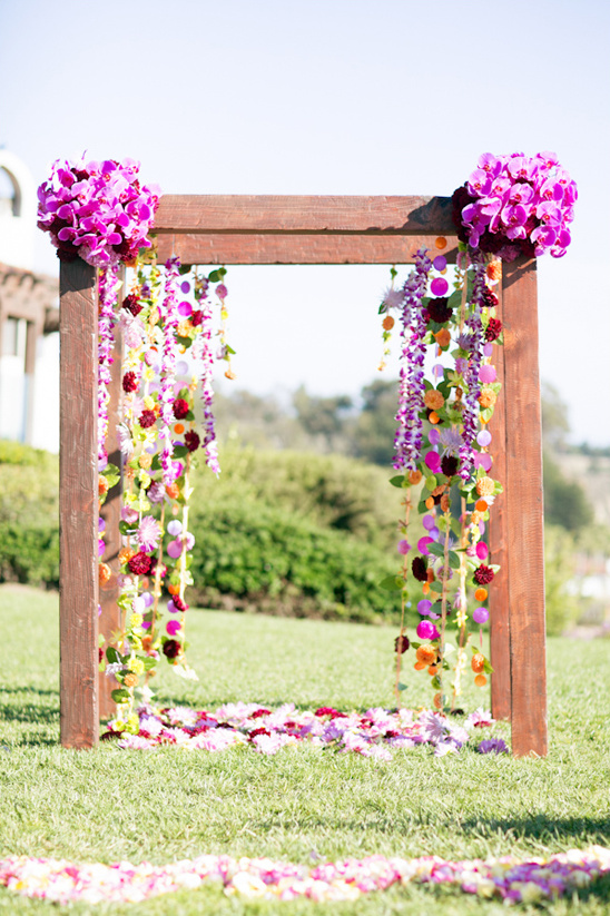 bright floral ceremony decor