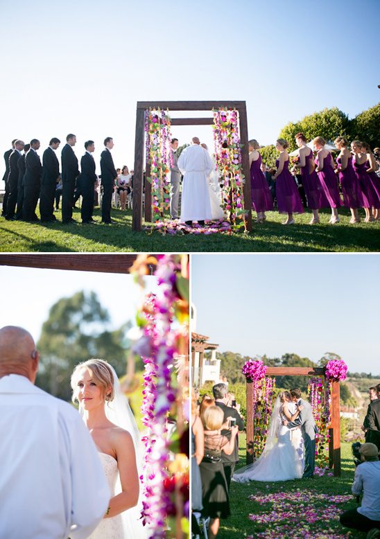 outdoor wedding ceremony at Bacara Resort and Spa
