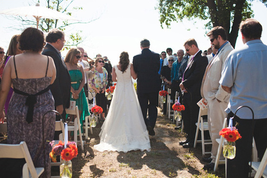 wedding ceremony at The Condor's Nest Ranch