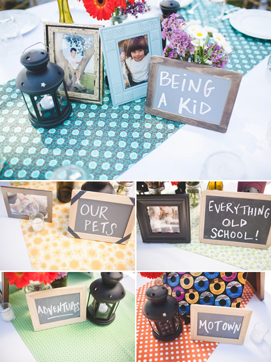 party themed table names