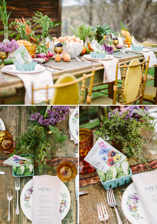 farm table place setting ideas