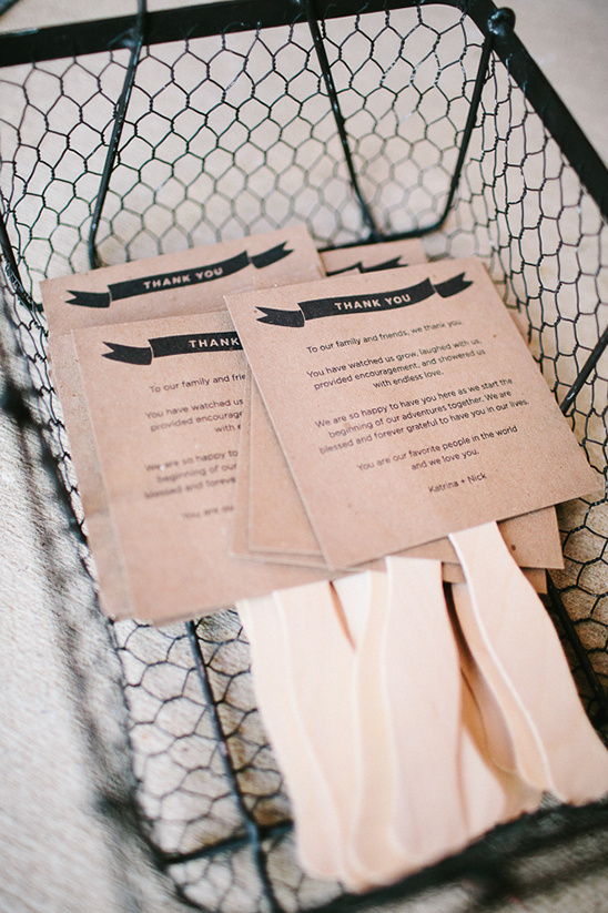 wedding programs on popsicle sticks