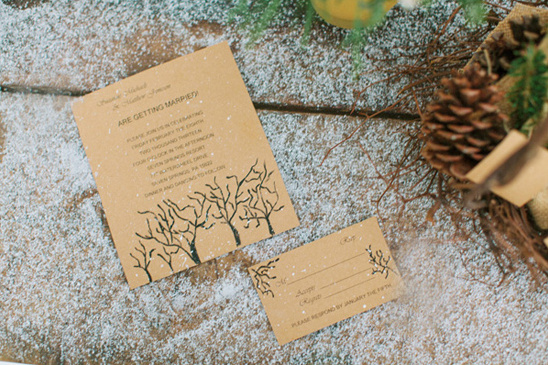 simple rustic wedding invites by Devoted To You