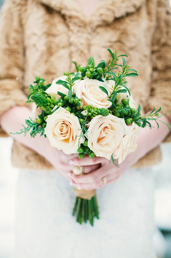 peach rose bouquet by Brilliant Buds Floral Design