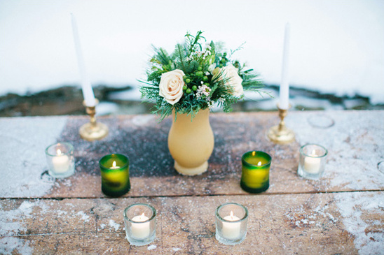 simple wedding altar decor