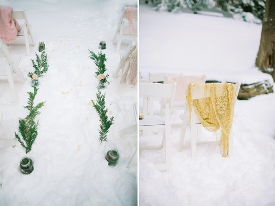 outdoor winter ceremony decor ideas