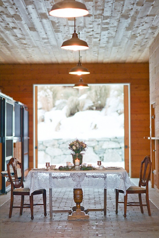 winter wedding reception ideas at Runaway Ranch