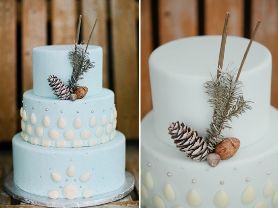 baby blue wedding cake by Sweet On You