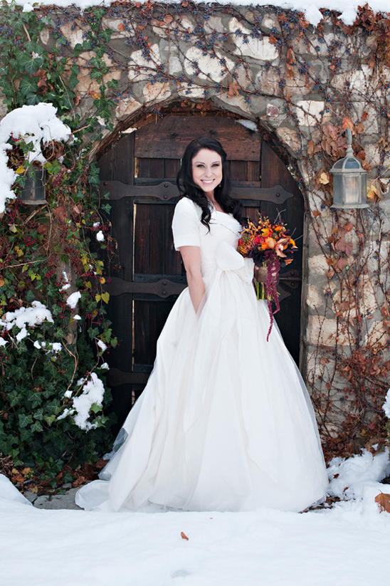 winter bridal looks