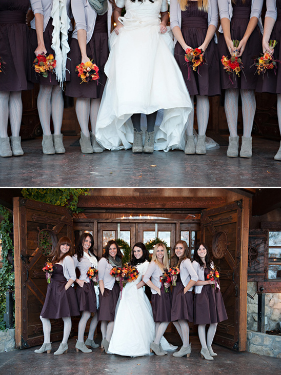 winter bridesmaid ideas