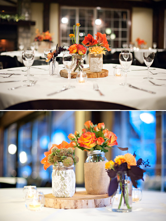 rustic fall table decorations