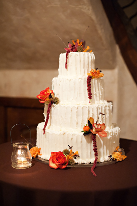 fall wedding cake by Carrie's Cakes