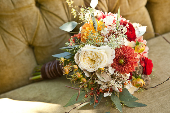 fall wedding bouquet by Fleurtations Floral