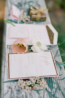 Elegant Pink And Gold Wedding Ideas
