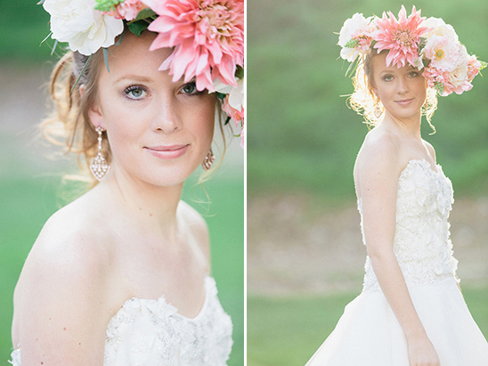 floral head piece inspiration