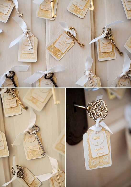 key escort card ideas