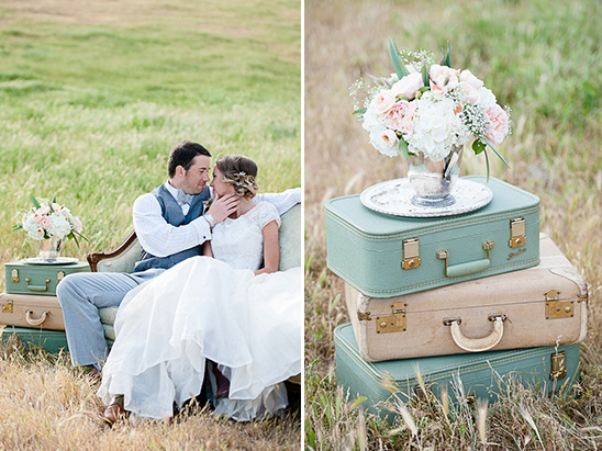 vintage suitcases for wedding