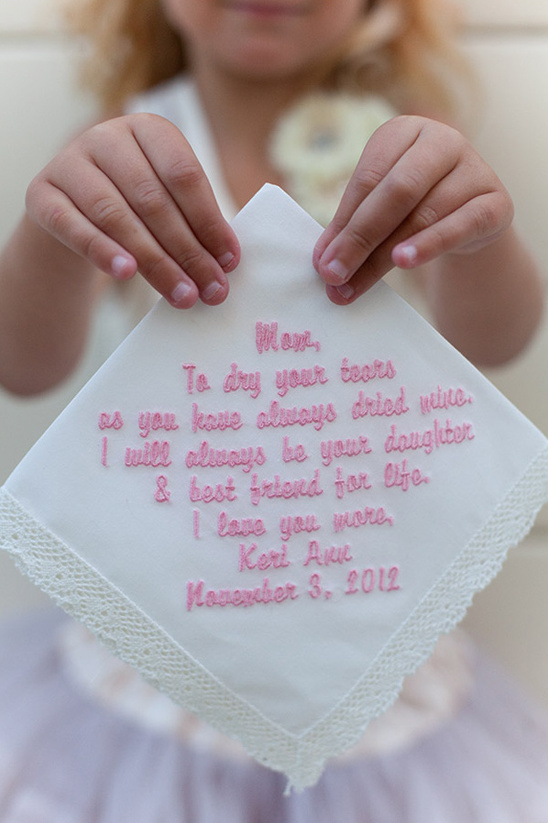 personalized hanky from daughter