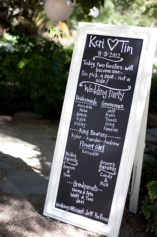 wedding program sign