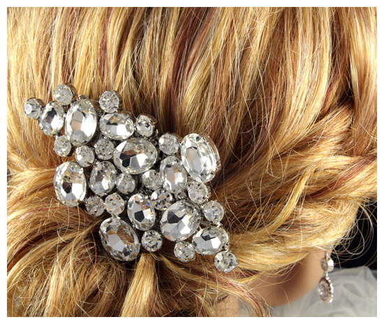 Bridal Hair Accessories, hair comb, crystal, sparkly